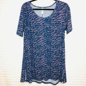 LulaRoe Perfect T Blue Pink Shirt